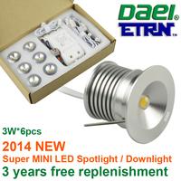 Daei ETRN Brand 2014 new product 3W x 6pcs 18W MINI LED Spotlight LED Cabinet Light LED Recessed Light  Free Shipping