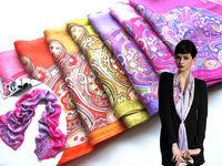 [Silk Jarcquard Scarf]50cm*170cm Embroidery Long Scarf/100% Natural Silk/Flower Scarves/2014 New Autumn & Winter Desigual
