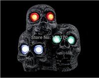 Halloween decorations Halloween Sound Sensor Bar skull electric three ghosts headlights   free shipping