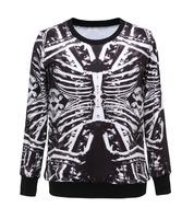 Free shipping Bone Fashionable Sport Suit Hoody Women Digital Printed Sweatshirt