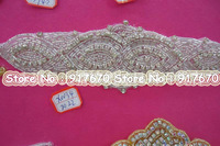 Luxury Newest glass Bling Bling Bridal iron on rhinestone applique Bridal Sash Decoration , Beaded Wedding Crystal Belt