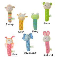 Hot Sales!2014 New Arrival Animal Style Baby Soft Toys,7 style,Educational Sounding Toy,Age >3M avaliable