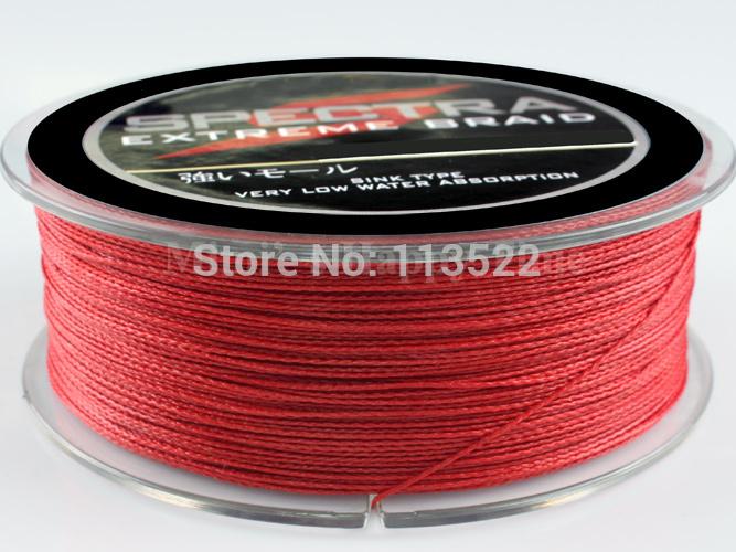 красная плетеная леска