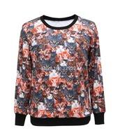 Free shipping Crazy Cat Fashionable Sport Suit Women Sweatshirt Digital Printed Hoody