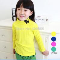 LZBB1407295 New Korean style high neck long sleeved t-shirt, cute girls bottoming shirt,4 color s for choose