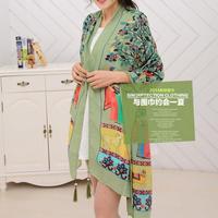 Hot Sale!2014 New Fashion Scarf for Woman,Bohemia National Style Scarves,Solemn and Elegant winter warm Tassel Scarf Wrap Shawl