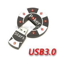 Cartoon Poker Star USB3.0 Memory Thumb Stick Pendrive USB Flash 8gb 16gb 32gb 64gb free shipping