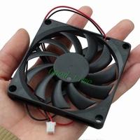 """2pcs 8cm 80x10mm 3.14"""" 2Pin 80mm x 80mm x 10mm DC 5V Brushless Cooling Cooler Fan Fans 8010s"""