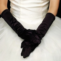 New Arrival High Quality Black 1pair/lot Party Wedding Bridal Evening DressWomen Long Elbow Finger Gloves  FK672404