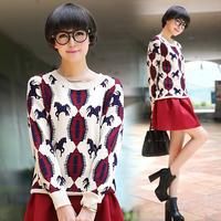 My1008 2014 jacquard thickening sweater female