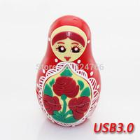 Cartoon Russian Doll USB 3.0 memory USB Stick Flash Disk Pendrive 8gb 16gb 32gb 64gb free shipping