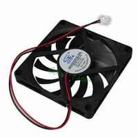 """2pcs 3.14"""" 8cm 80mm*10mm 80mm x 80mm x 10mm Case 12v DC Brushless Cooling Cooler Fan Fans"""