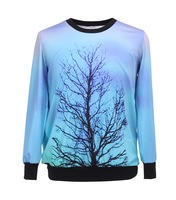 High Quality Women/Men The Moon Tree Digital Printed Hoodies Ladies Sweatshirts Hot Selling