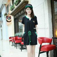 Plus Size 8,10,12,14 Pregnant Women Cute Black Drawstring Cotton Matenity Dress Free Shipping a00433