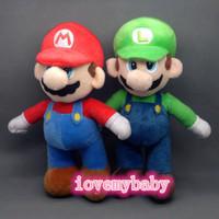 """2 Pcs/Set New Super Mario Bros. Stand LUIGI & MARIO Plush Doll Stuffed Toy 10"""""""