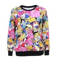 High Quality Women/Men Adventure Time BRO BALL Digital Printed Hoodies Ladies Sweatshirts 2014