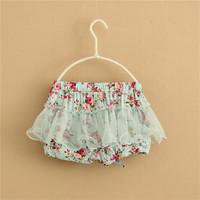 2014 children's clothing girls gauze shorts child floral shorts kids culottes tutu shorts C-1