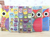 For LG L9 case Cute owl design plastic mobile phone cases covers for LG optimus L9 P760 free shipping