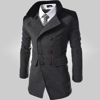 Free Shipping 2015New Arrival Fashion Brand Men's Slim Fit Design Casual Brand Men's Wind Coats 105