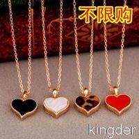 fashion personality wild temperament OL small matter of love Clover necklace collarbone chain necklace short paragraph c12