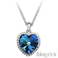Titanic Heart of Ocean Austrian crystal necklace short section of the original female clavicle chain