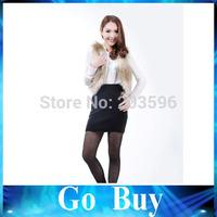 Free shipping 610211 2014 winter women coat faux fur vest gradient women jacket