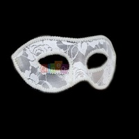 1PC White Hot Selling Sexy Lady Lace+PVC Halloween Evening Party Face Mask Women Girl