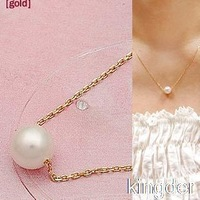 C179 wholesale jewelry simple pearl necklace female temperament Short modern pearl necklace pendant