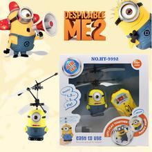 ventas calientes despicable me 2 siervo regalos para niños aficiones control helicóptero juguetes de control remoto(China (Mainland))