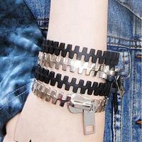 Pink fashion vintage punk personality zipper bracelet female 38g