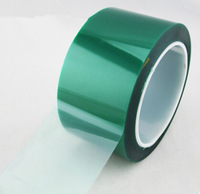 30mm * 33m  High Temperature Resistant PET Green Adhesive Tape for Sticky PCB Electroplate Shielding