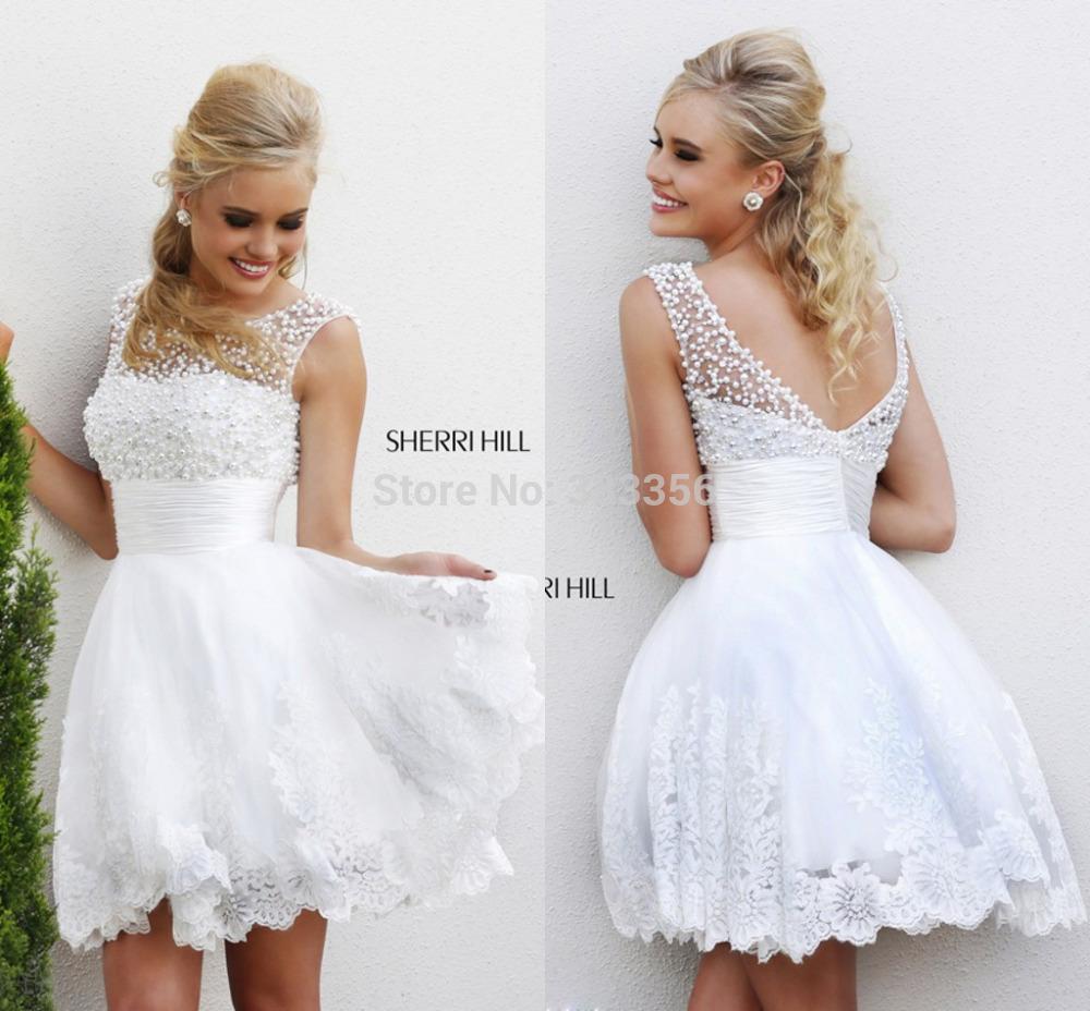 Белые платья короткие пышные
