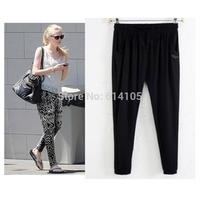 Black Knit Modal Soft Brand Women Trousers Plus Size Harem Pants New calcas femininas 2014 Black