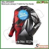 077 Free Shipping M L XL Motorcycle Fox Racing Jerseys For Honda T Shirt Dirt Bike Cycling MTB Shirts Motorcycle T shirt