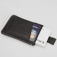 New High quality genuine cow leather Men credit card holder men wallet ID card holder bag JIMEI-00848
