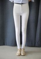 Women's pant 2014 autumn Washed Slim pencil pants feet Long pant women trousers S M L XL
