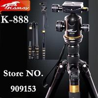 NEW! Free Shipping KAMAY K-888 Professional portable flexible Tripod DSLR Camera Panoramic ball Head Changed To Monopod