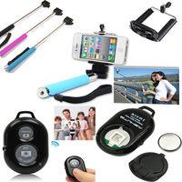 FreeDHL Extendable Handheld Self portrait Monopod selfie stick Photograph Bluetooth Shutter Camera Remote Control monpod & shut