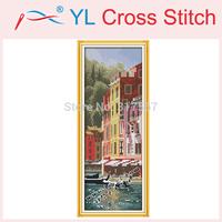 2014 New !! Italian Portofino Counted Cross Stitch Home Decor DMC Cross Stitch DIY Dimension Cross Stitch Kits for Embroidery