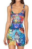 new 2014 Summer Dress Midnight Owl Women Casual Dress Vestidos sexy clothing Free Shipping