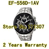 EF-556D-1AV Hk post Free shipping men's watch  EF 556D Men's Sport Chronograph Wristwatch EF-556D-1A Ef-556D +original box