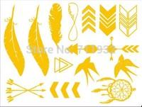 Metallic Gold & Silver Temporary Jewelry Tattoos