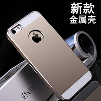 Metal Aluminum Cover Case For iPhone 5 5S 4 4S Skin Shell Phone Accessories Freeshipping