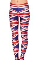 ZCXR New Arrival Fashion Union Jack 3D Printed Women Legging High Elastic Slimming Mention Hip Plus size Fitness Lady Leggings