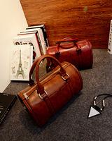 Korean version of the new retro PU leather handbag women's large handbag shoulder bag casual simplicity Messenger bag tide
