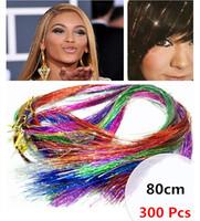 New Arrival 300 pcs/set (10 Colors mix ) Fashion Punk Color Streaked Wig Hair Pieces hotsale DIY Wig Hair extention Accessories