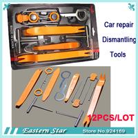 12PCS/LOT  Removal tool-Car Radio Door Clip Panel Trim Dash Audio Removal Pry Tool Kit