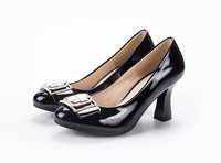 2014 Spring Autumn Genuine Leather High-heeled Bow Shoes, Lady's Pumps, 7.5CM Heel, Fashion WDP002