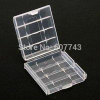Hard Plastic Case Holder Storage Box AA AAA Battery clear White