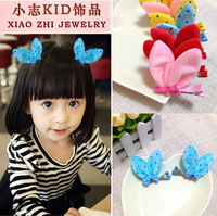 Cute Baby Girl Kid's Child Little rabbit ears children hair clips Han edition of cute children stereo hairpin headdress jewelry
